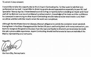 read aspen39s nationwide testimonials aspen contracting With sample letter of recognition for teamwork