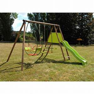 Portique Bois Pas Cher : soulet portique en bois cannelle 215376 pas cher achat ~ Premium-room.com Idées de Décoration