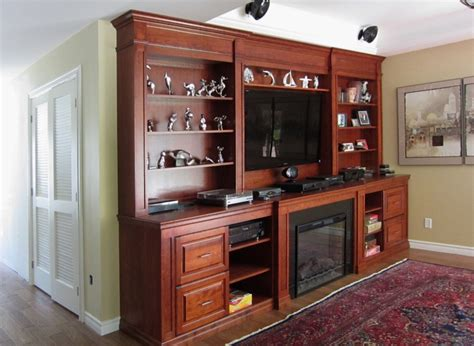 bathrooms ideas pictures cherry wood wall unit with electric fireplace tv