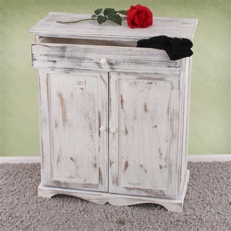 Farbe Shabby Look by Kommode Schrank 78x66x33cm Shabby Look Vintage Wei 223
