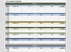Social Media Calendar Excel calendar month printable