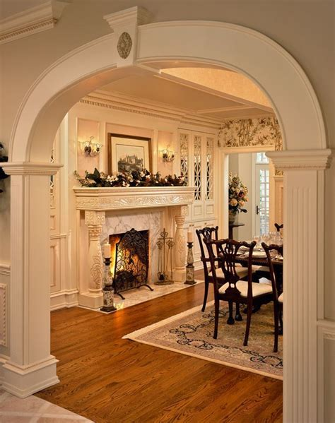 dining room fireplace ideas  pinterest