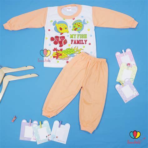 setelan piyama anak baju baju tidur size 2 tahun piyama kaos kartun anak celana