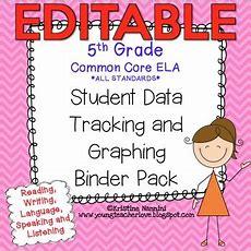 Student Data Tracking Binder  Data Graphing 5th Grade Ela Literacy *editable