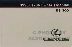 Service Manual  1998 Lexus Es Dash Owners Manual