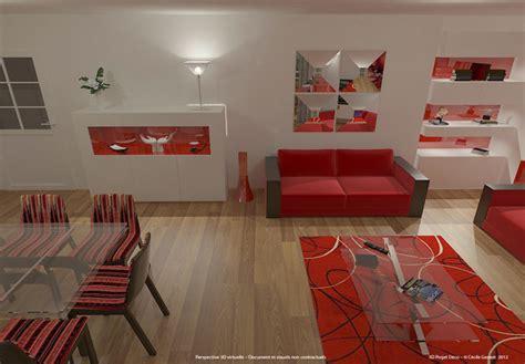 Simulation 3d De Salons Contemporains Et