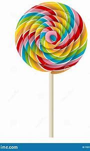 Rainbow Swirl Lollipop Realistic Illustration Stock Vector ...