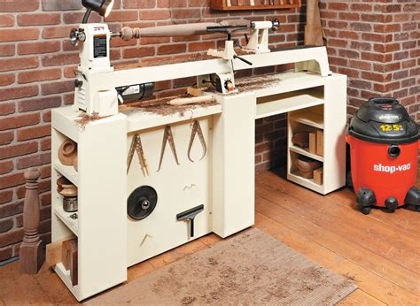 compact lathe station woodworking project woodsmith plans