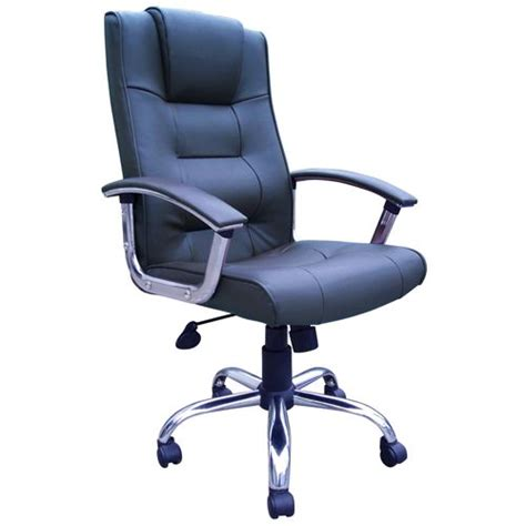 blue leather executive office chair blue board