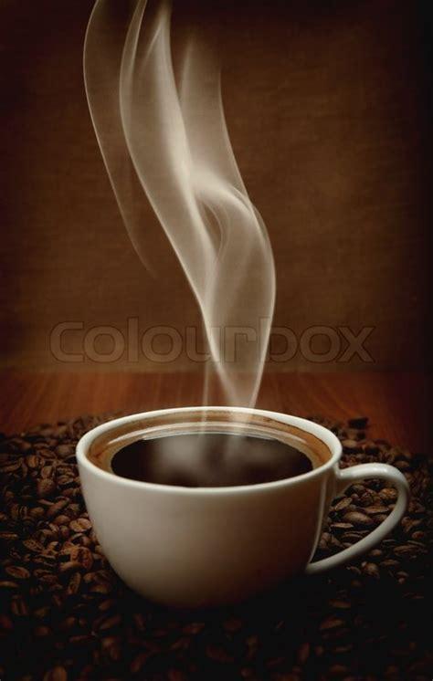 cup  coffee  aromatic smoke stock photo colourbox