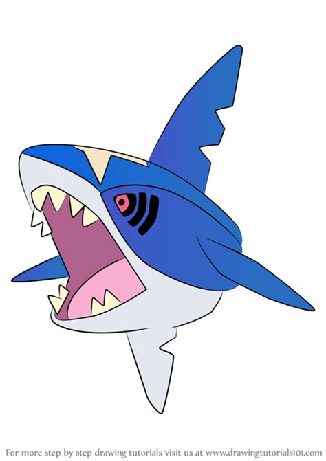 step  step   draw sharpedo  pokemon