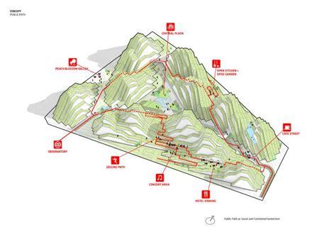 bjarke ingels plans hualien residences in taiwan diagram taiwan