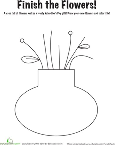 s flowers worksheet education 834 | valentine flowers coloring page nature