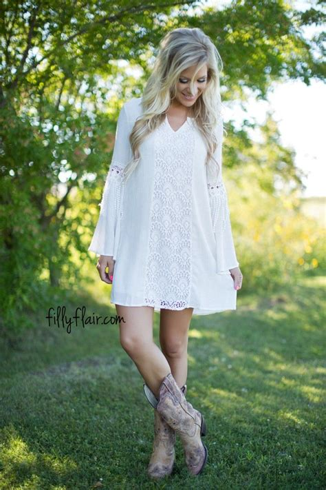 perfect dress  wear  cowboy boots cowgirl