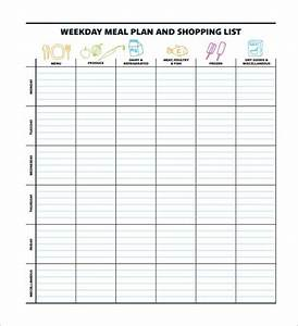 45 printable weekly meal planner templates kitty baby love With weight watchers menu planner template