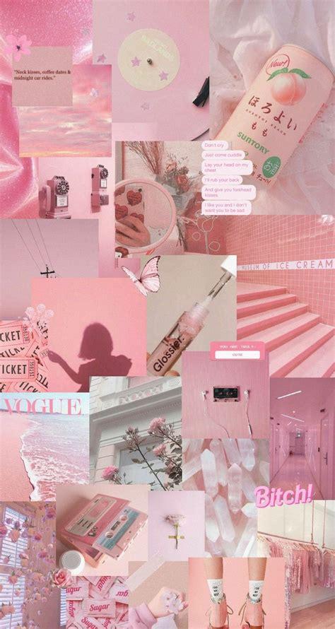 pink aesthetic wallpaper kertas dinding terapi seni