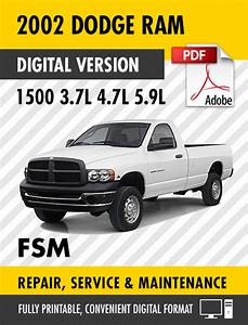 2002 Dodge Ram 1500 Truck 3 7l 4 7l 5 9l Factory Repair