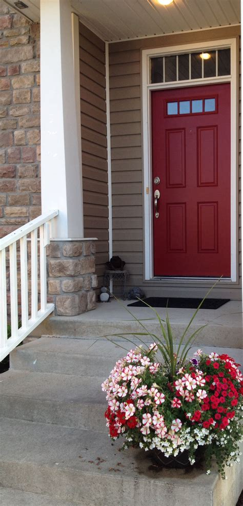 valspar front door red curb appeal in 2019 painted