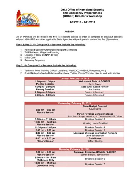 conference agenda template  word   formats