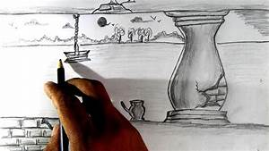 How To Draw A Simple Scenery Pencil Drawing