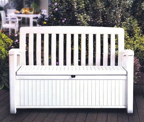 Outdoor Bench Seats by Outdoor Furniture Storage Deck Box Keter 60 Gallon Patio