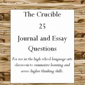 High School Essays Examples The Crucible And Year Of Wonders Essay Prompts  Essay On Terrorism In English also Health Awareness Essay The Crucible Essay Prompts Essay Violence Against Women The Crucible  Compare And Contrast Essay About High School And College