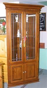 handcrafted mennonite oak corner china cabinet lloyd s