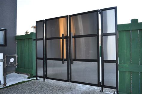 lessard modern stainless steel gates hammer  forge