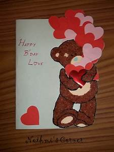 My teddy Birthday Card ~ Nethmi's Corner