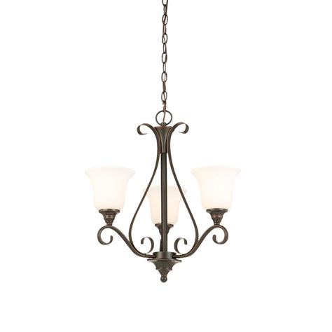 kitchen lighting images hton bay 3 light rubbed bronze chandelier with 2185