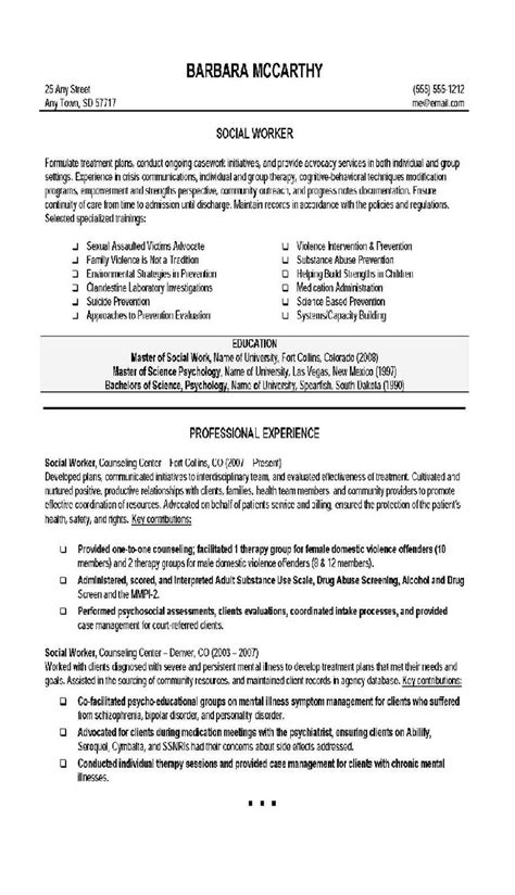 Resumes That Work by Social Worker Resume 4 Social Work Social