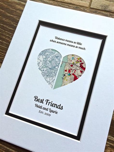 long distance quote gift christmas gift   friends