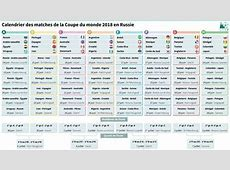Mondial2018 le calendrier complet L'Express