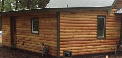log cabin paneling siding soffits exterior decking northwest montana and