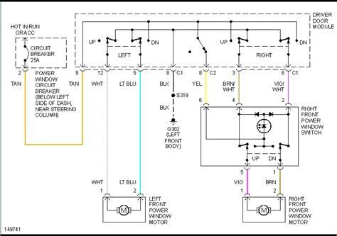 Dodge Ram Power Window Wiring Diagram by 2002 Dodge Ram 1500 4 7l Power Windows Will Not Work At