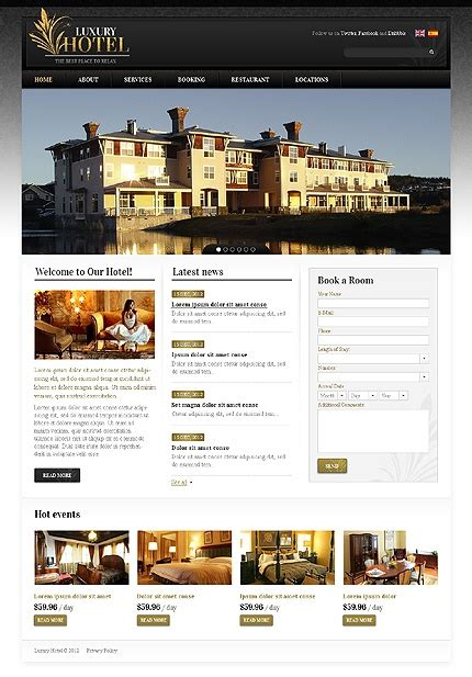 7 Best Images About Hotel & Spa Web Design Layouts On