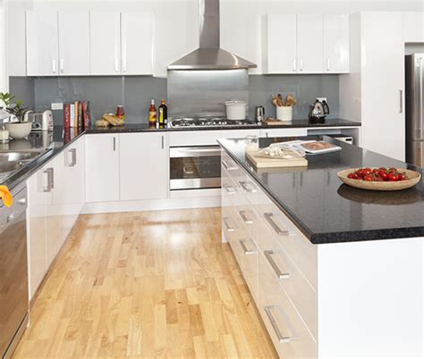 affordable white kitchen cabinets black granite kaboodle kitchen