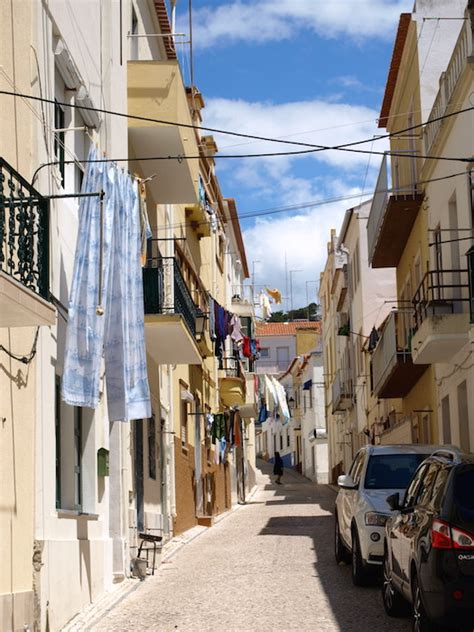 nazare portugal houses  beach packing light travel