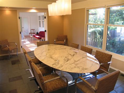 furniture oval kitchen table with marble granite top