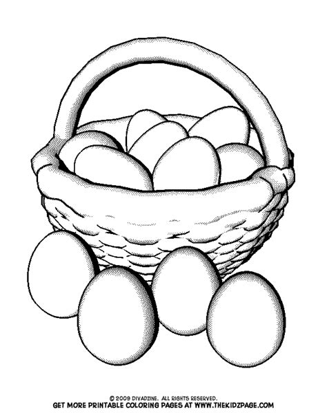 Coloring Egg by Basket Of Easter Eggs Free Coloring Pages For