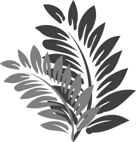 leaves grey clip art  clkercom vector clip art