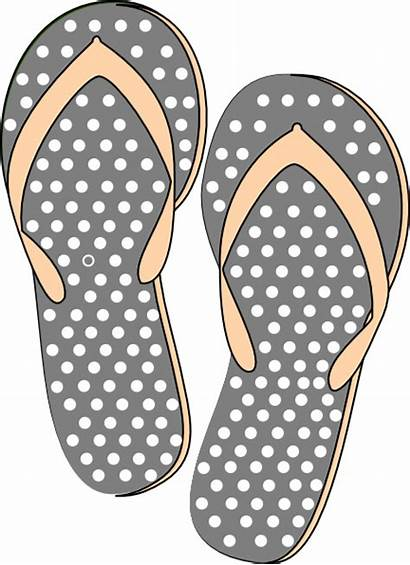 Sandals Clipart Grey Pink Clip Flops Flip