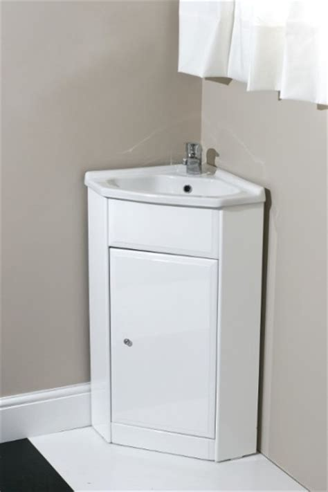corner vanity unit with tap and waste contemporary