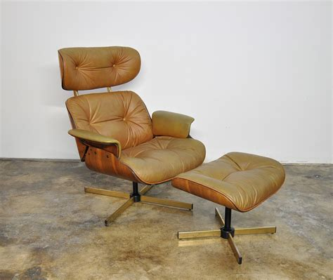 Ottoman Lounge Chair by Select Modern Frank Doerner Eames Style Leather Lounge
