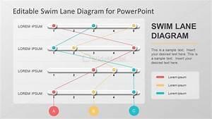 Swimlane Process Flow Diagram Slide