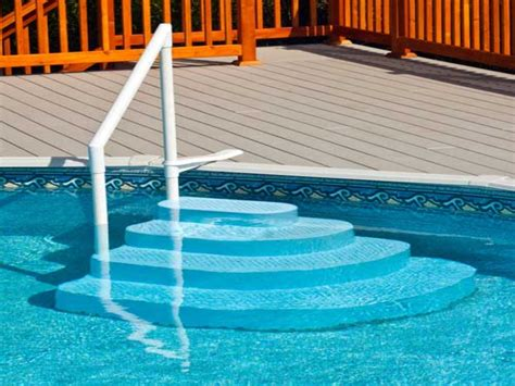 above ground pool steps for decks pool deck decorating ideas pool steps for above ground