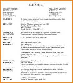 undergraduate college resume exles 7 resume format for undergraduate inventory count sheet