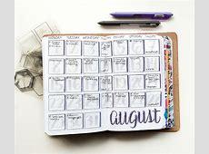 My August Bullet Journal Setup – Pretty Prints & Paper
