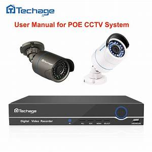 Techage User Manual For Security Camera Poe Nvr Kit Poe