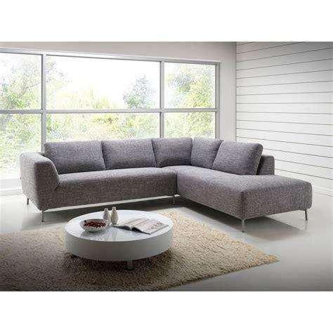 canapé d angle gris chiné canapé d 39 angle côté droit design 5 places avec méridienne